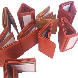 100 COWHIDE WALLETS -TAN ONLY