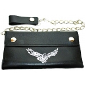 "Pack of 6-Trifold Chain Wallet 7.5"" x 4.5"" LICWB10/E-04"