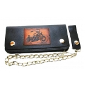 "Pack of 6-Bifold Chain Wallet 8"" x 3.5"" LICWB11/B-01"