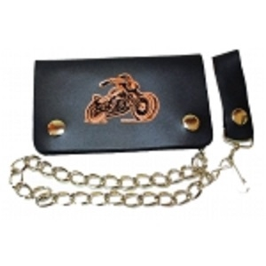 "Pack of 6-Bifold Chain Wallet 6"" x 3.5"" LICWB1/B-01"