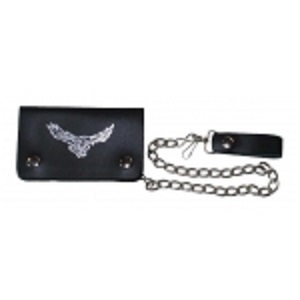 "Pack of 6-Bifold Chain Wallet 6"" x 3.5"" LICWB1/E-04"