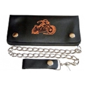 "Pack of 6-Bifold Chain Wallet 7.5"" x 3.5"" LICWB2/B-01"