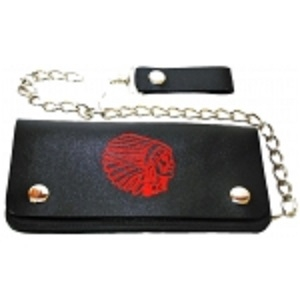 "Pack of 6-Bifold Chain Wallet 7.5"" x 3.5"" LICWB2/G-02"