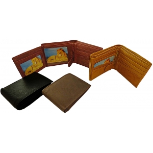 Pack of 12 pcs Bifold Wallet LION113 (brown only)