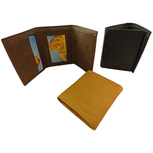 Pack of 12 pcs Trifold Men's Cowhide Wallet LION29