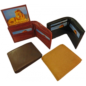Pack of 12 pcs Bifold Men's Cowhide Wallet LION32