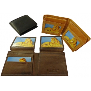 Pack of 12 pcs Bifold Men's Cowhide Wallet LION38
